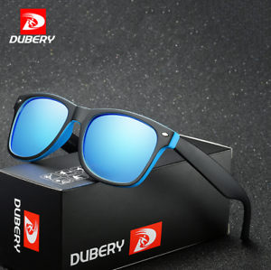 DUBERY Men Sport Polarized Sunglasses Outdoor Driving Riding Square Glasses New