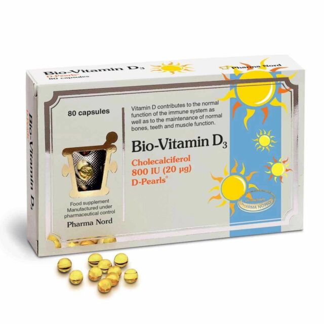 Pharmanord Bio-Vitamin D3 800iu 20mcg caps 80