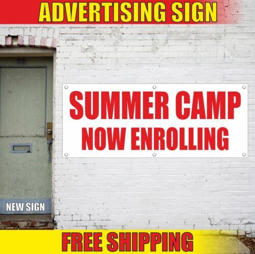 SUMMER CAMP NOW ENROLLING Advertising Banner Vinyl Mesh Decal Sign SCHOOL CHILD