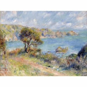 Pierre-Auguste-Renoir-View-At-Guernsey-1883-Painting-Large-Wall-Art-Print-18X24