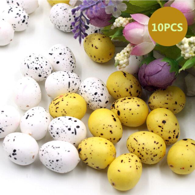 10pcs/lot Children DIY Easter Dove Eggs Artificial Simulated Bubble Quail Eggs