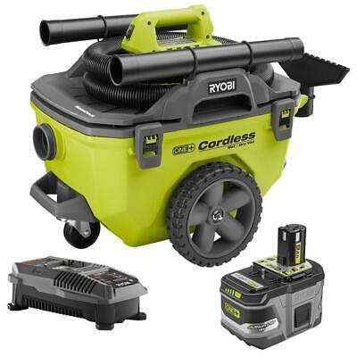 Ryobi Cordless Wet Dry Vacuum Kit Compact Green 18 Volt 6