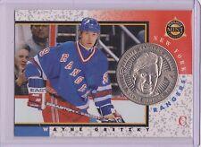 RARE 1997-98 PINNACLE MINT WAYNE GRETZKY SILVER / NICKEL COIN & CARD #18 ~ QTY