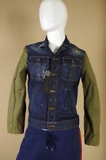 $1760 DSquared Distressed Denim Jacket S74AM0381 sz 50 Large Blue Green Coat D2