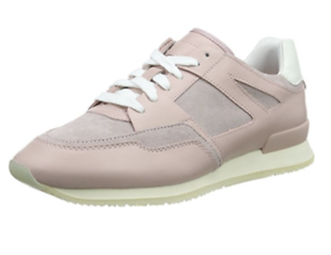 NEW Hugo Boss Women's Adrenne Leather trainers Sneakers Pink UK4