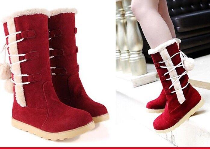 botas stivaletti zapatos rojo calde  tacco 1 cm  pelle sintetica comodi 9154