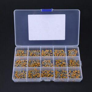 450-X-15Value-10-100uF-Ceramic-Disc-Capacitor-DIP-Monolithic-MLCC-Assortment-Kit