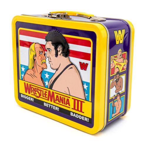 Funko WWE WRESTLEMANIA III 3 cm Funko Pranzo Scatola Latta Hulk Hogan /& Andre il Gigante