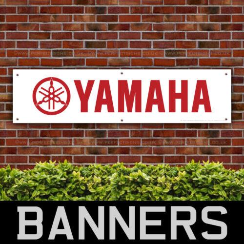YAMAHA Motorcycles Red PVC Banner Garage Workshop Sign (BANPN00147)