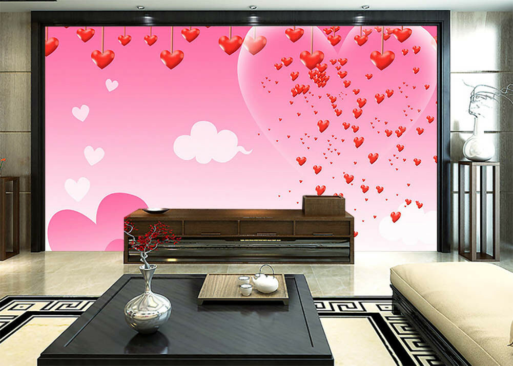 Sparkle Of Hearts 3D Full Wall Mural Photo Wallpaper Printing Home Kids Decor