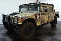 1993-2006 Hummer H1 Humvee Manual Door Mirrors Black Civilian Pair