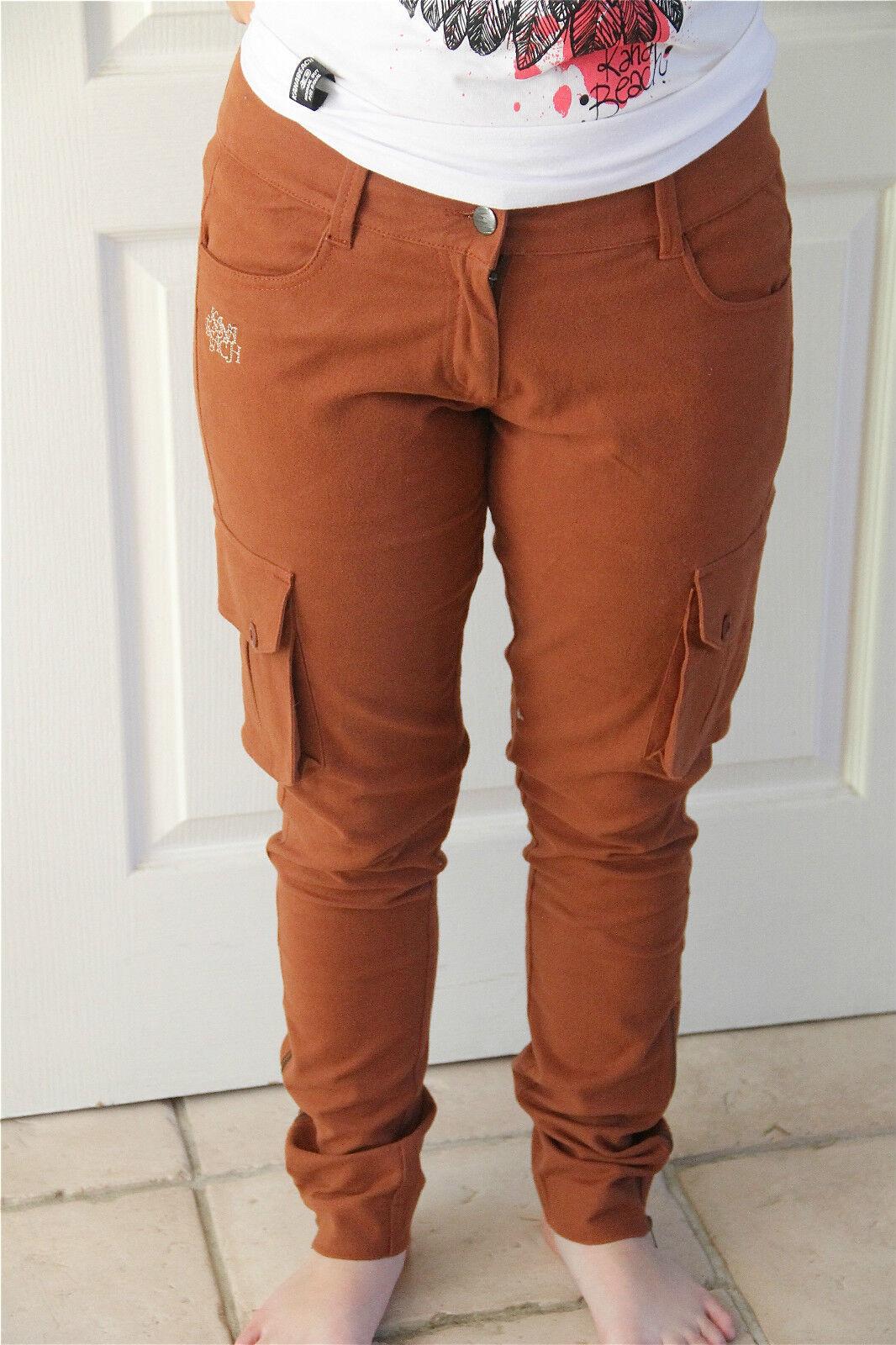Pantalones sentido KANABEACH crunch T 38 NUEVO CON ETIQUETA valor