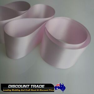 High-Quality-SATIN-CAR-RIBBON-50mm-x10-Meters-WEDDING-DOUBLE-FACED-Pink