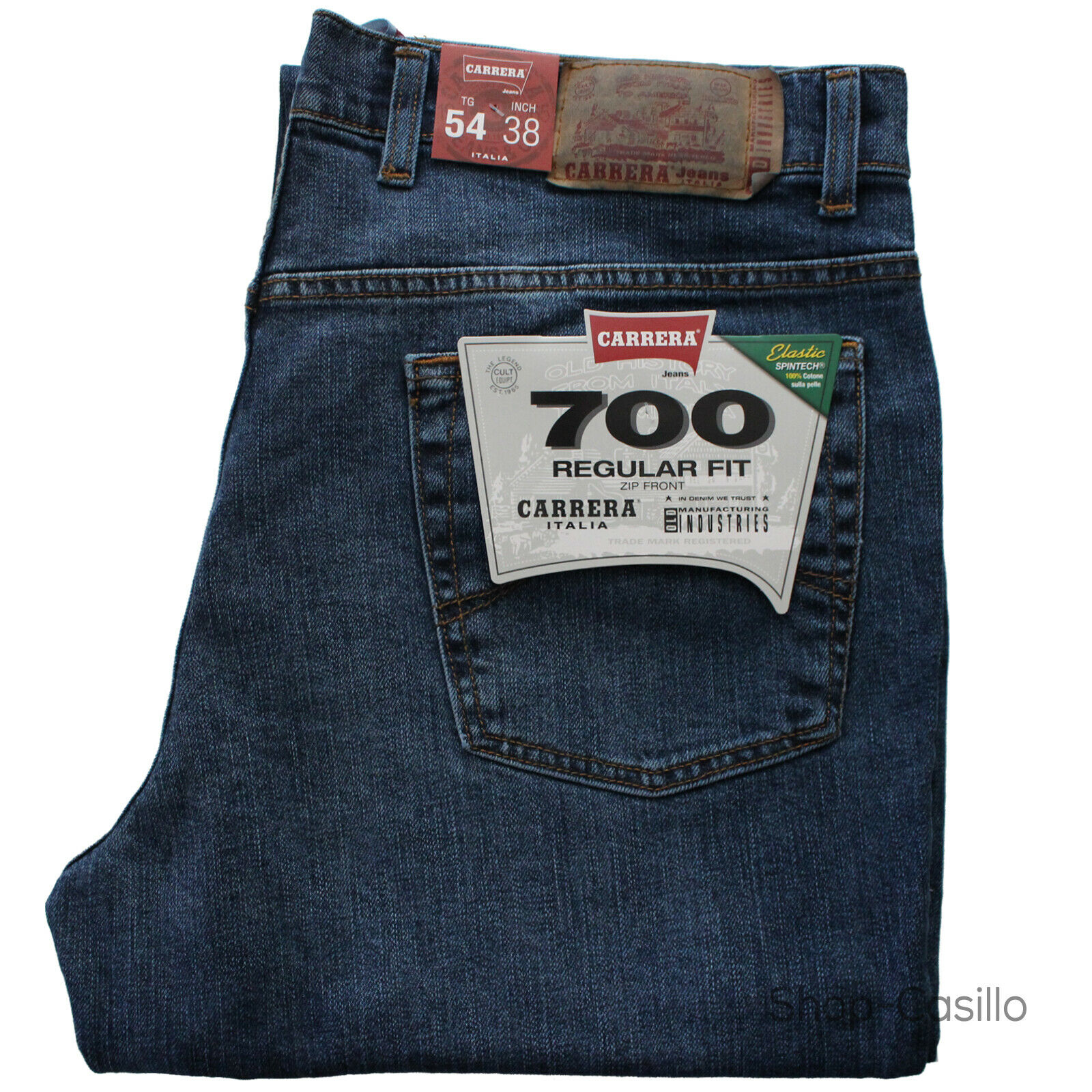 Jeans Carrera 700 Elastico Regular Fit Denim Pantalone Cinque Tasche 46 62 Dritt