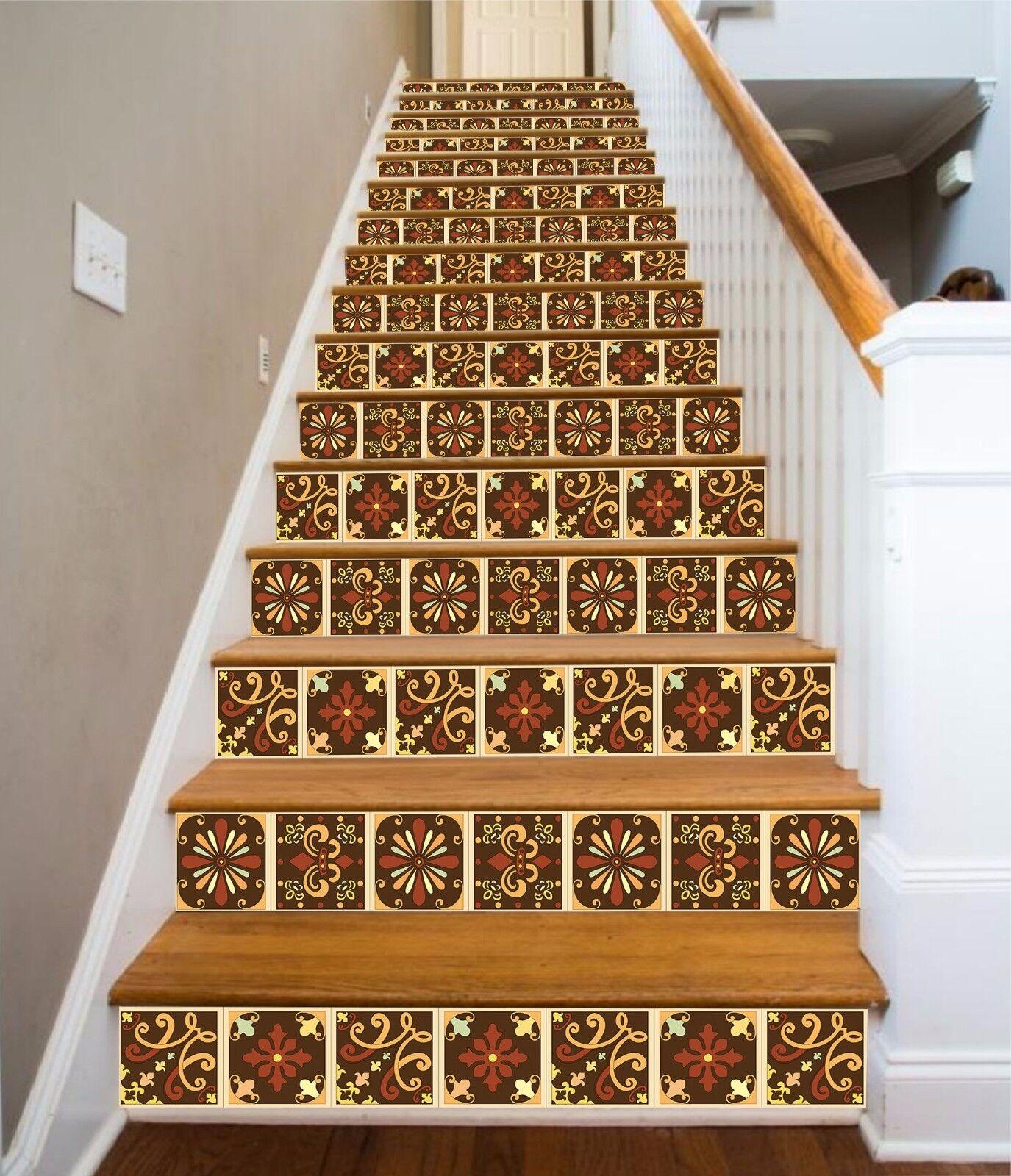 3D Metall Muster 30 Stair Risers Dekoration Fototapete Vinyl Aufkleber Tapete DE