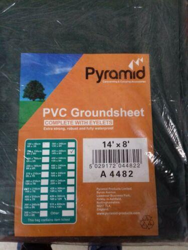 Various Sizes Pyramid PVC Green Camping Groundsheet