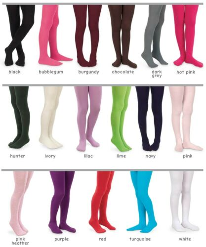 Jefferies Pima Cotton Solid Color Girls Tights