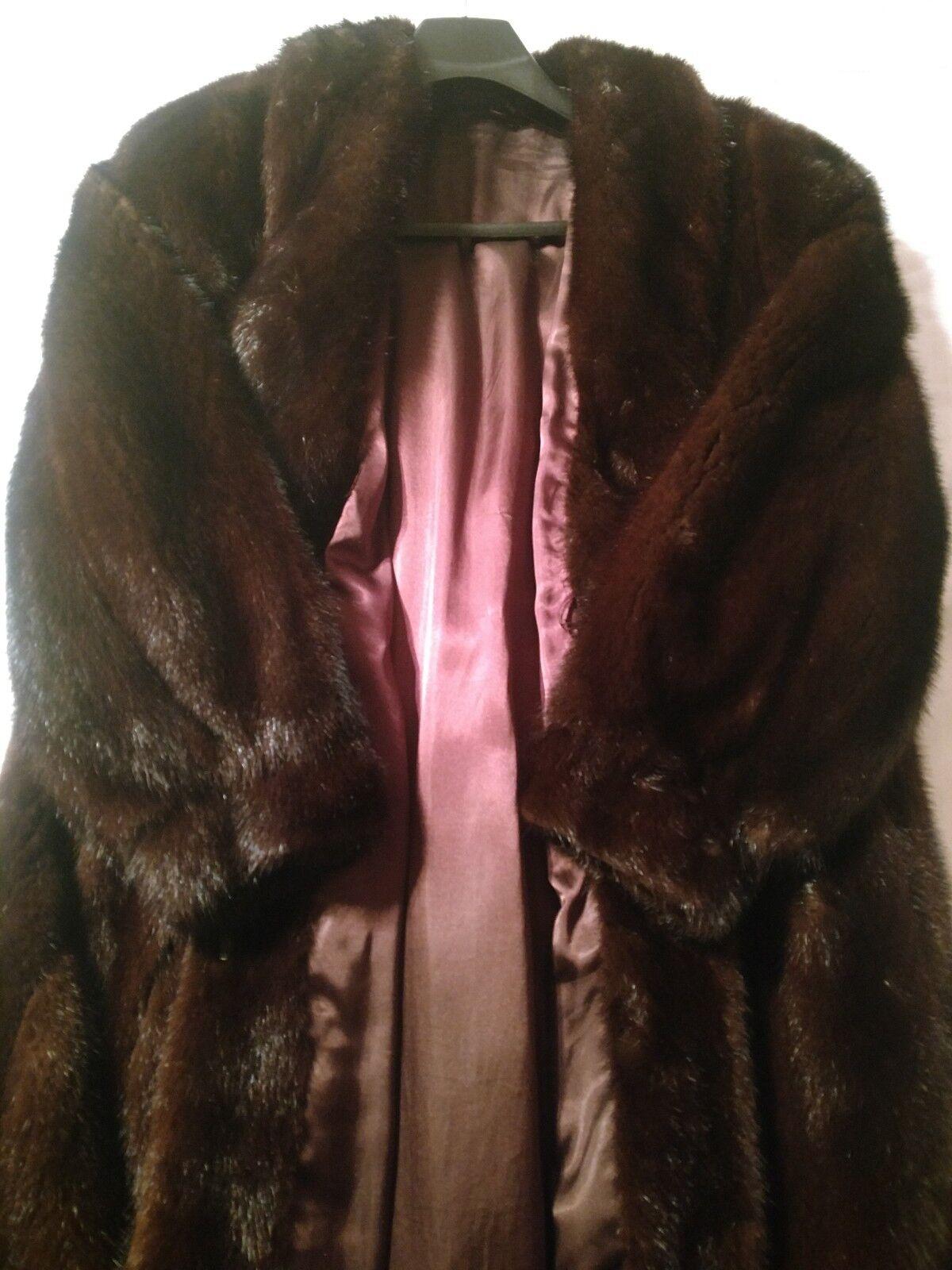 Vintage Mink Coat Full Length Size M