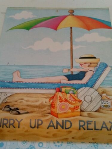 "Mary Engelbreit HURRY UP AND RELAX Wall Art 10 3//4/"" x 13/"" Unframed"