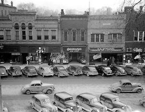 1940-Main-street-Salem-Illinois-Vintage-Photograph-8-5-034-x-11-034-Reprint