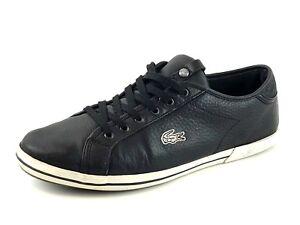 Image Is Loading Lacoste Men 039 S Black Sneaker Casual Shoes
