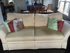 One Beautiful Large Yellow Taylor King Sofas