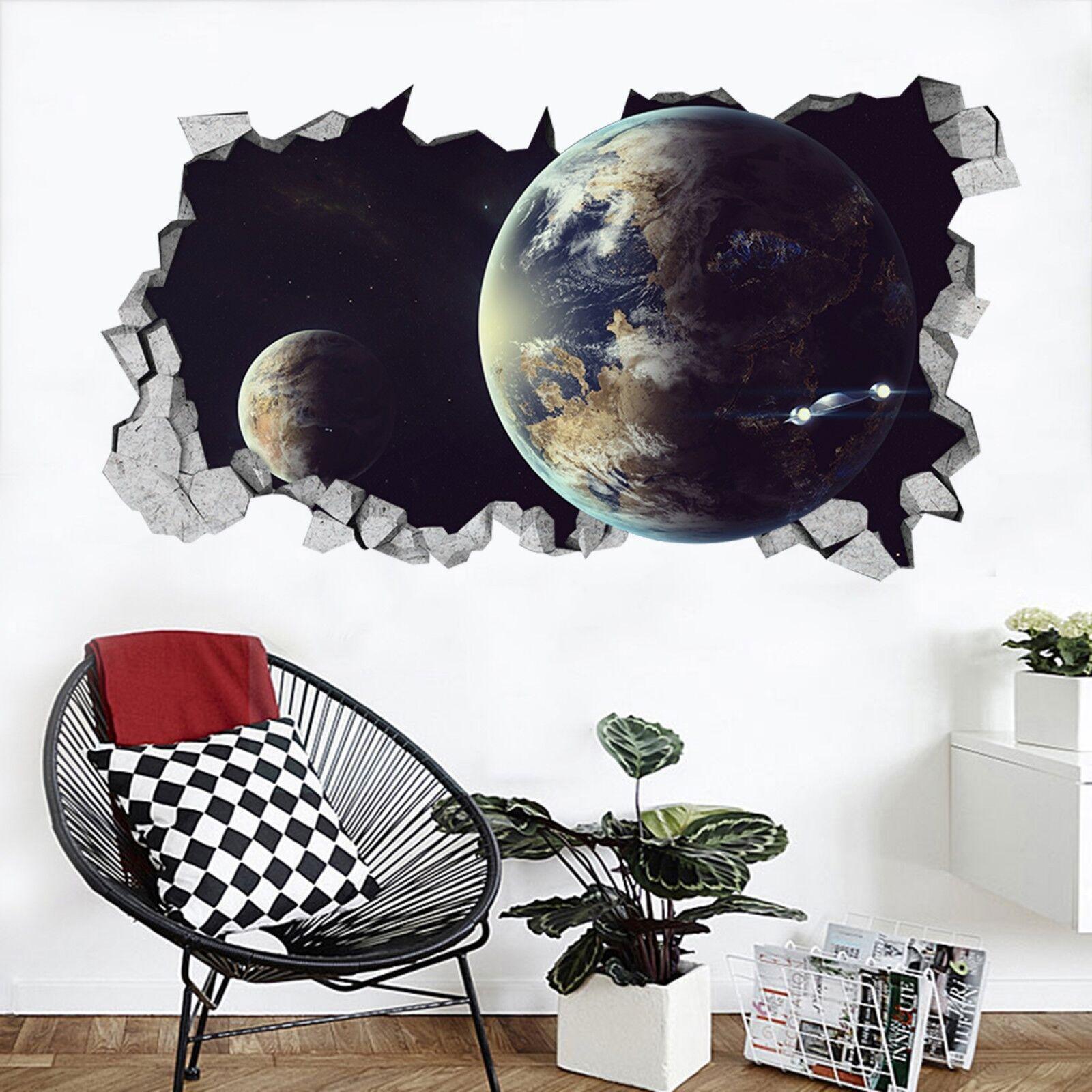 3D Raum Planeten 32 Mauer Murals Mauer Aufklebe Decal Durchbruch AJ WALLPAPER DE