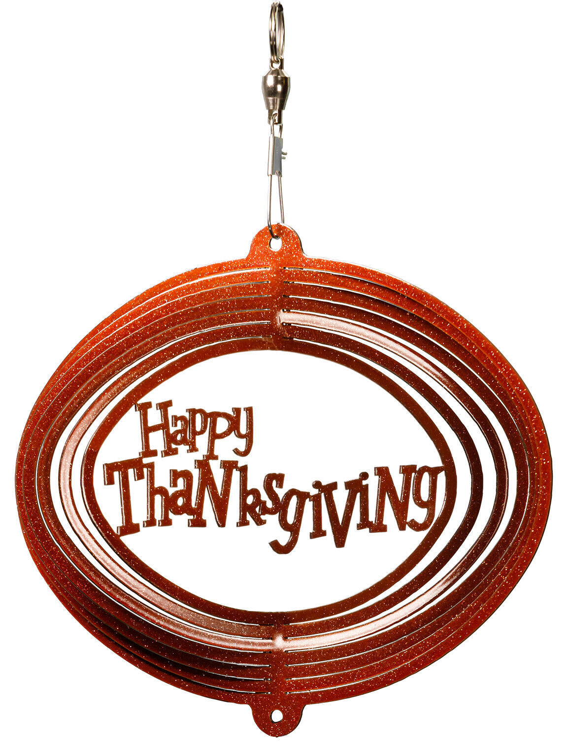 SWEN Products HOLIDAY HAPPY THANKSGIVING Swirly Metal Wind Spinner