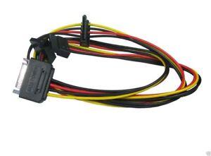 Sata Male to 3 Way Sata Female Power Splitter Cable Hard Drive Adaptor HDD