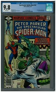 Spectacular-Spider-Man-34-CGC-9-8-WP-Lizard-amp-Iguana-Appearance