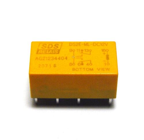 SDS Print-Relais DS2E-ML2-DC12V 2x UM 12 Volt Spule NOS