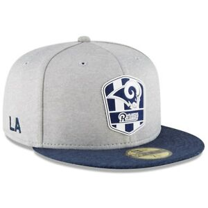 52d19588 Los Angeles Rams New Era 2018 NFL Sideline Road Official 59FIFTY ...