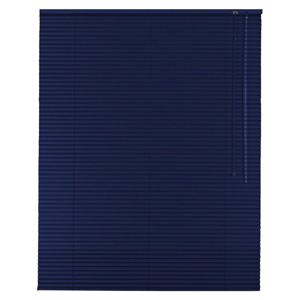 Aluminium Jalousie Alu Jalousette Jalusie Fenster Tür Rollo - Höhe 90 cm blau