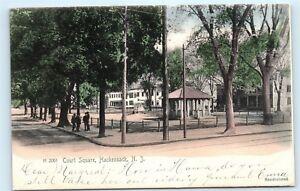 1905-Court-Square-Hackensack-NJ-New-Jersey-old-Vintage-Postcard-B67