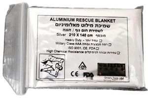 Grizzly-Aluminum-Rescue-Silver-Blanket-Mylar-Heat-Emergency-Camping-Warmer-IFAK