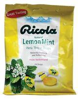Ricola Cough Drops, Lemon Mint, 24 Ct (pack Of 24)