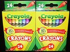 2 x CRAYOLA 24 COUNT COLORS CRAYONS BOX (2 BOX LOT) *New in Retail BOX!!