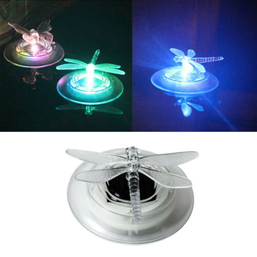 Garden Solar LED Floating Light Dragonfly Lamp Pool Light Pond Color Changing UK