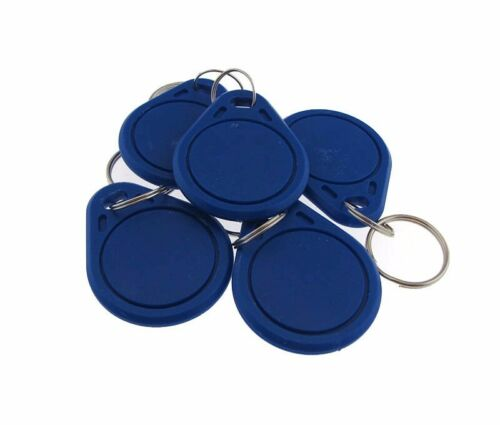 Blue #3 13.56MHz RFID IC Contactless Keyfob Token MF1 compatible Pack of 5