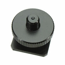 1/4''-20 Tripod Screws to Flash Camera Hot Shoe Mount Adapter Aluminum Metal New