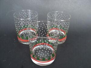 3-WAECHTERSBACH-CHRISTMAS-TREE-GLASSES-4-1-8-034-lowball-Drink-Holiday-Tumblers