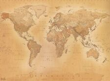 1wall old antique vintage map giant wallpaper photo wall mural ebay old style vintage world map wallpaper wall mural 232m x 315m new free p gumiabroncs Gallery
