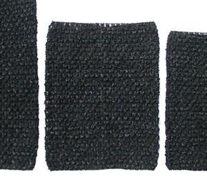 Black-Crochet-Tube-Top-Elastic-Waistband-Headband-Tutu-6-034-7-034-8-034-10-034-inches