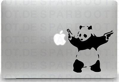 Apple MacBook Air Pro + PANDA WITH GUN + Aufkleber Sticker Skin Decal