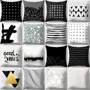 KQ-Concise-White-Black-Throw-Pillow-Cover-Cushion-Case-Car-Home-Sofa-Decor-Dazz