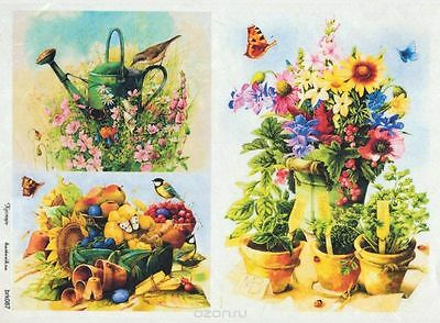 Rice paper for decoupage 8.27 × 11.69 inches Kids vintage Made in Russia