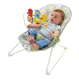 Fisher-Price Babys Bouncer Geo Meadow Bouncy Seat For Soothing & Entertaining