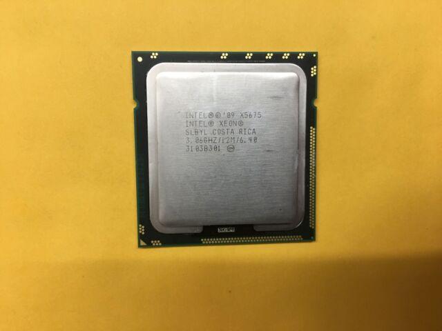 INTEL XEON X5675 3.06GHz 12MB SLBYL SIX HEX CORE 6C CPU PROCESSOR CACHE LGA 1366