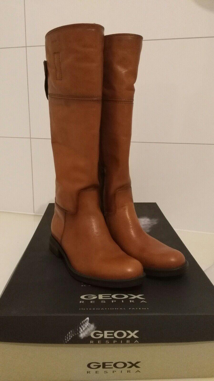 Geox stiefel 37 Cognac neu echt Leder NP 190,-