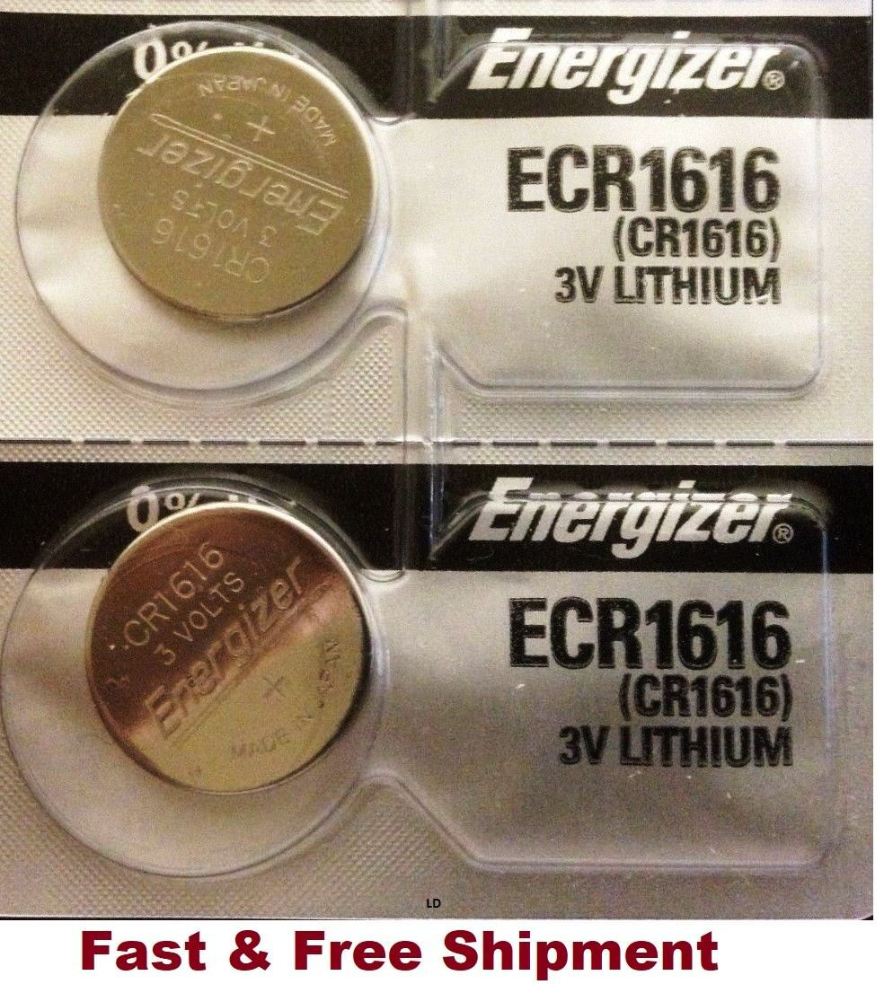 2 x Brand New Original 2PC Energizer CR1616 ECR1616 Coin Cell Battery - Canada